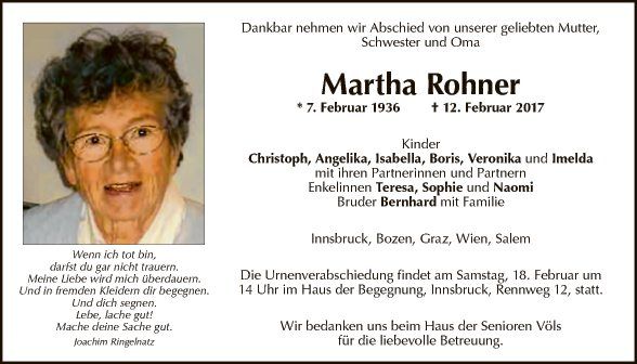 Martha Rohner