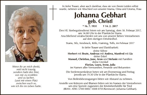 Johanna Gebhart