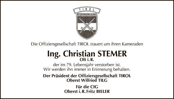Ing. Christian Stemer