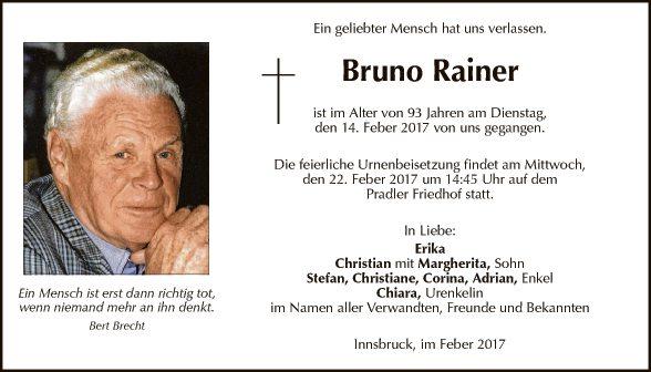 Bruno Rainer