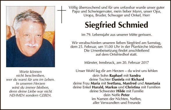 Siegfried Schmied