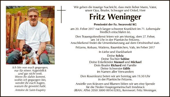 Fritz Weninger