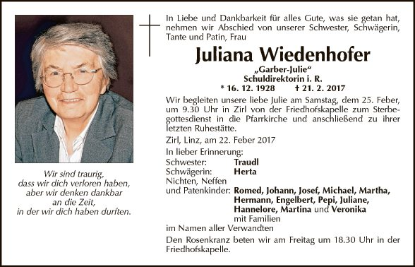 Juliana Wiedenhofer