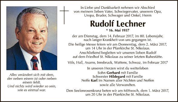 Rudolf Lechner
