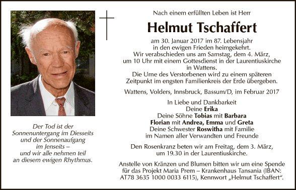Helmut tschaffert