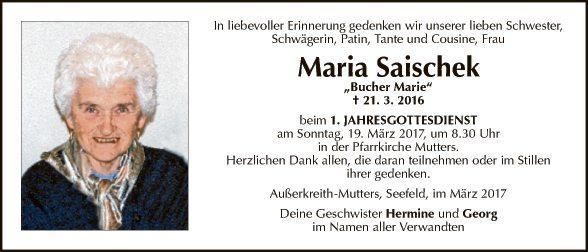 Maria Saischek
