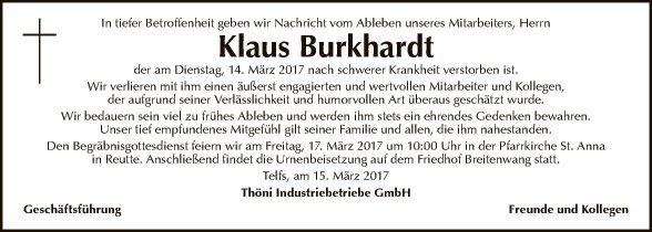 Klaus Burkhardt