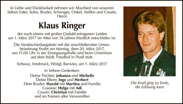 Klaus Ringer