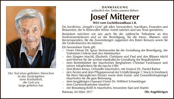 Josef Mitterer