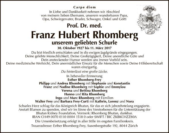 Dr. Franz Hubert Rhomberg