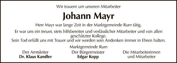Johann Mayr