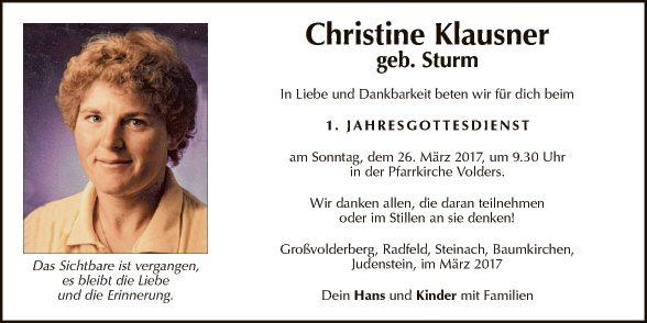 Christine Klausner