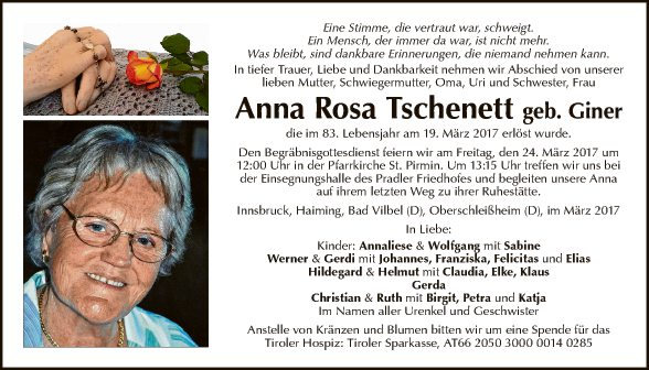 Anna Rosa Tschenett