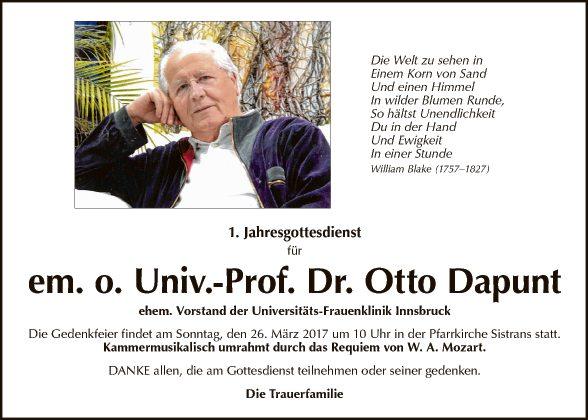 Dr. Otto Dapunt