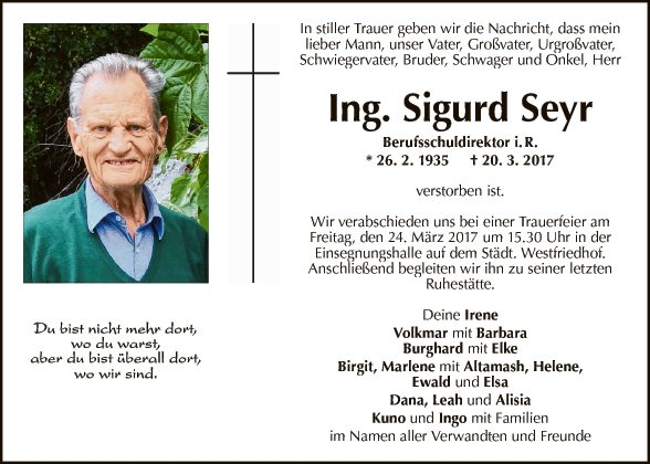 Ing. Sigurd Seyr