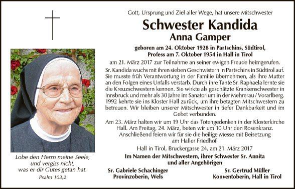 Sr. Kandida Anna Gamper
