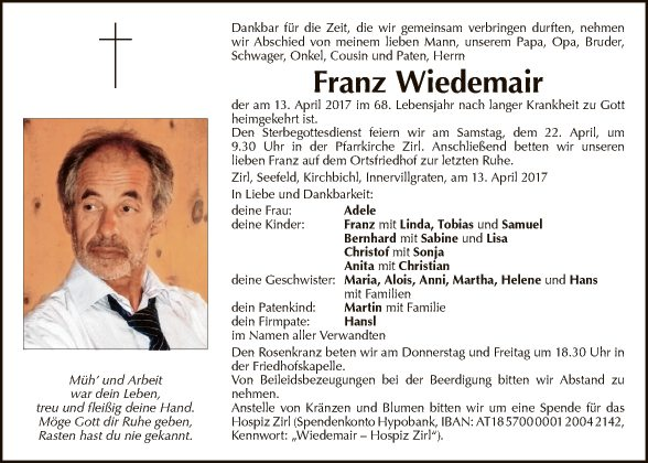 Franz Wiedemair