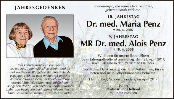Dr. Maria Penz,  Dr. Alois Penz