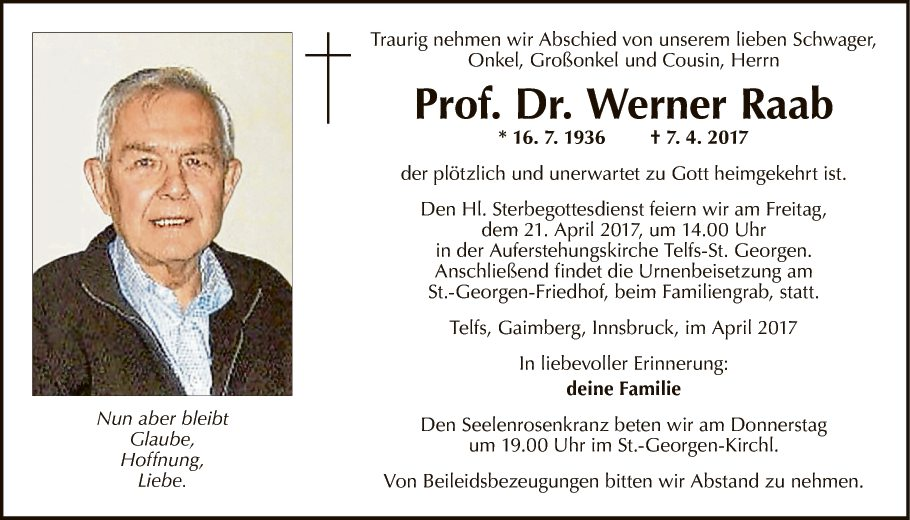Prof. Dr. Werner Raab