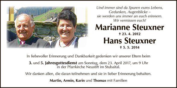 Marianne uns Hans Steuxner