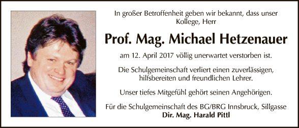 Mag. Michael Hetzenauer