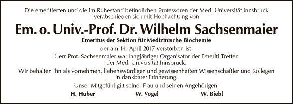 Univ.-Prof. Sachsenmaier Wilhelm
