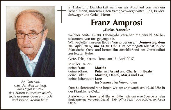 Franz Amprosi