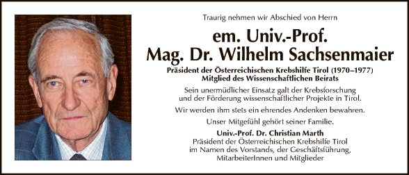 Wilhelm Sachsenmaier