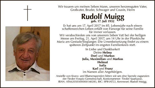 Rudolf Muigg