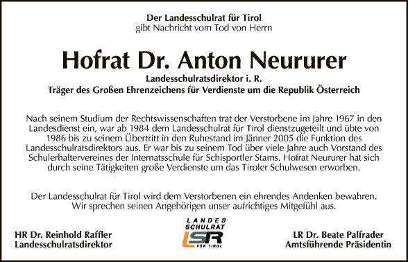 Hofrat Dr. Anton Neururer