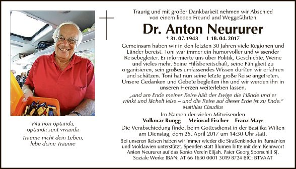 Dr. Anton Neururer