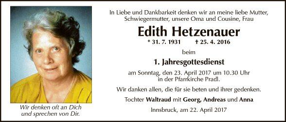 Edith Hetzenauer