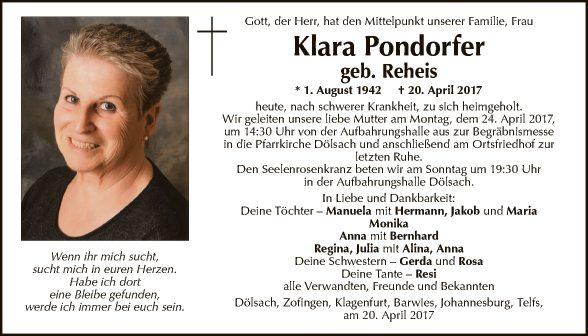 Klara Pondorfer