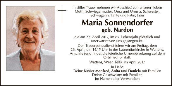 Maria Sonnendorfer
