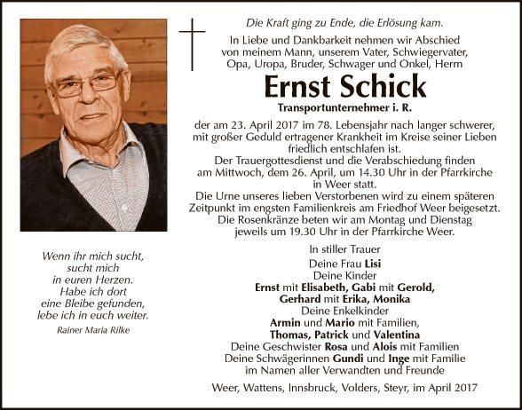 Ernst Schick