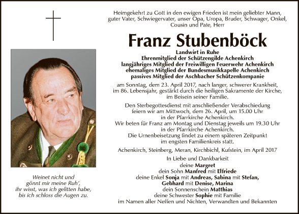 Franz Stubenböck