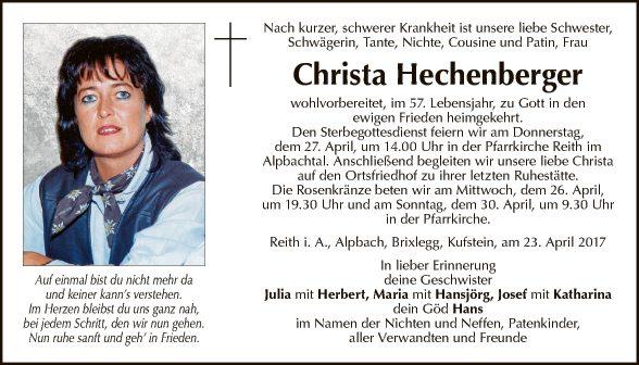 Christa Hechenberger