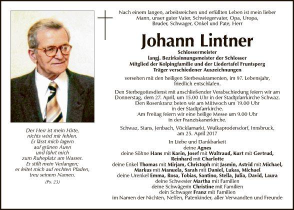 Johann Lintner