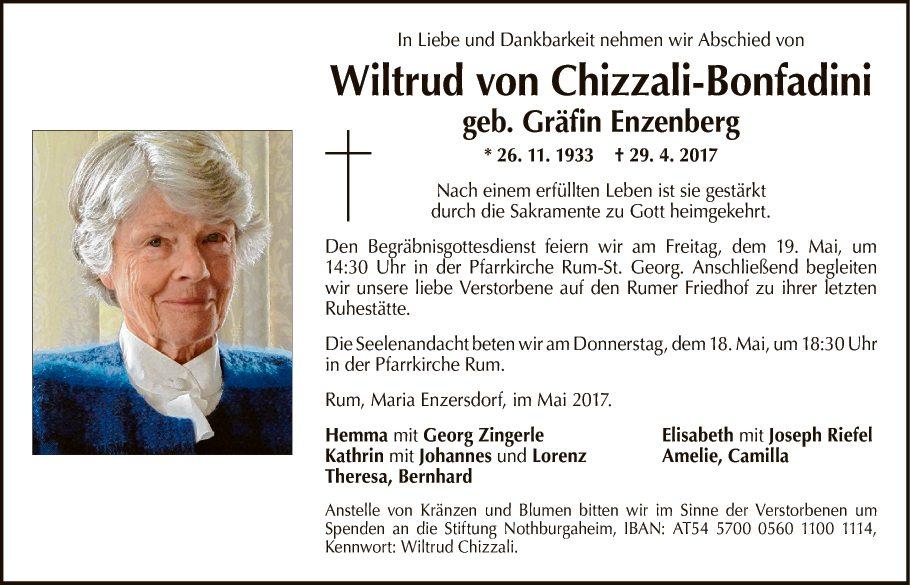Wiltrud von Chizzali-Bonfadini