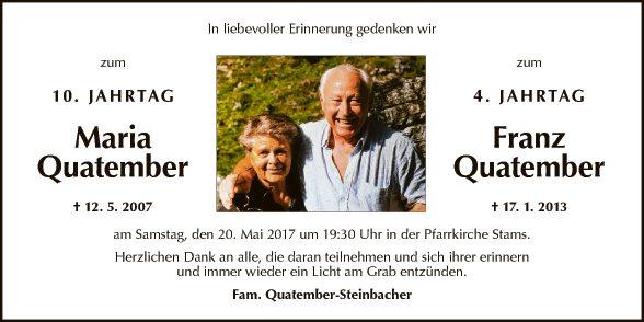 Maria und Franz Quatember