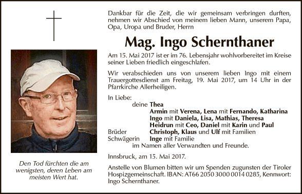 Mag. Ingo Schernthaner