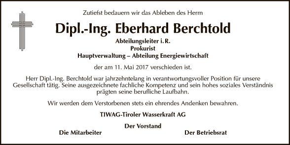 Dipl.-Ing. Eberhard Berchtold