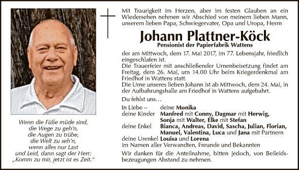Johann Plattner-Köck