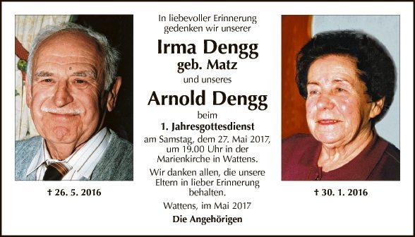 Irma und Arnold Dengg
