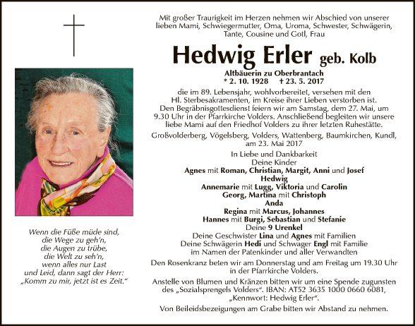 Hedwig Erler