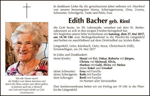 Edith Bacher