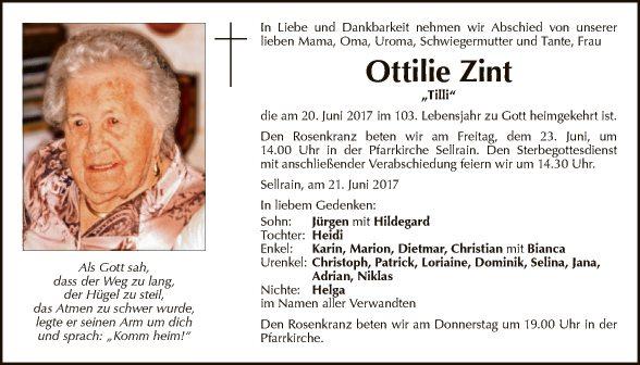 Ottilie Zint