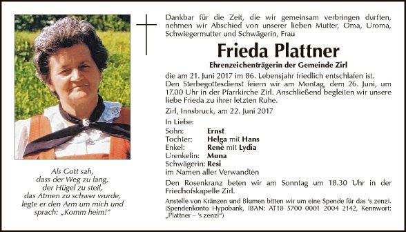 Frieda Plattner