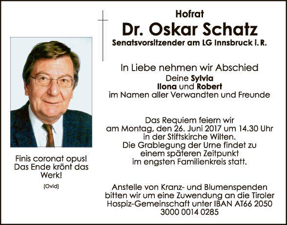 Dr. Oskar Schatz