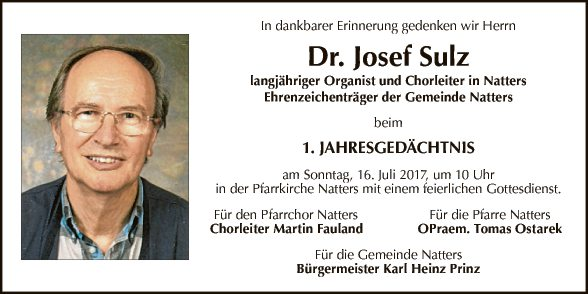 Dr. Josef Schulz